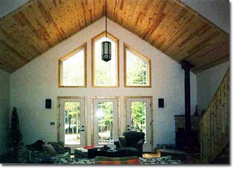 Nebel Construction Company interior wood ceiling