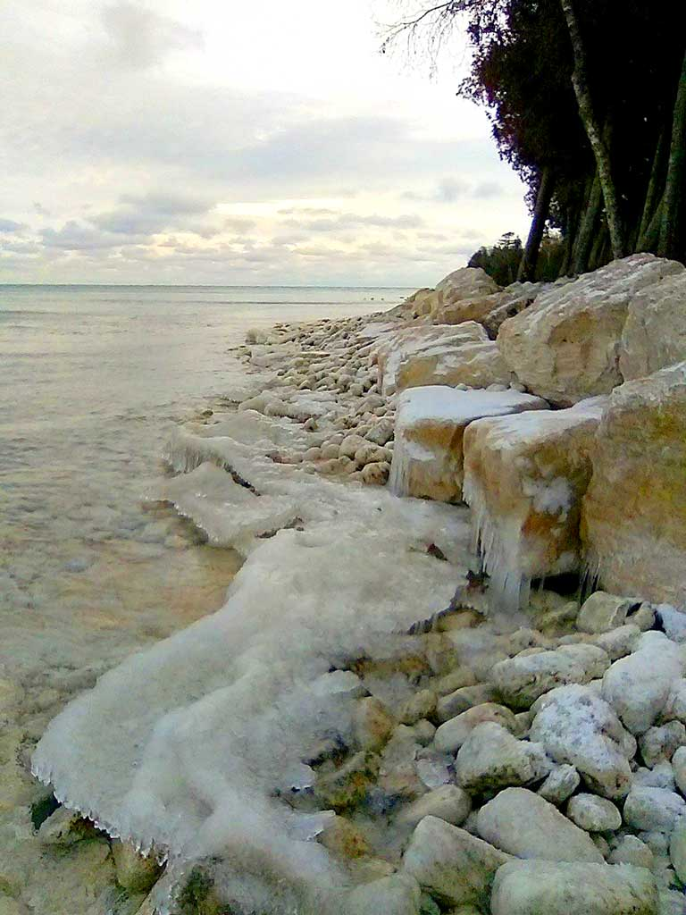 Door County Shoreline Protection with Armor Stone by Nebel Construction