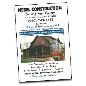 Nebel Construction in Sturgeon Bay Wisconsin all of your Door County building and shoreline building needs